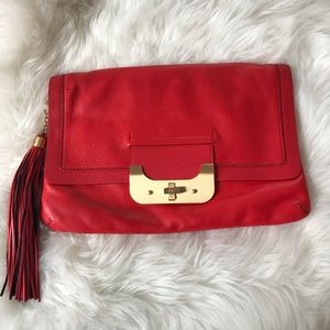 DVF Red Leather Bag
